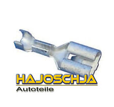 20 x Flachsteckhülse  Flachstecker Rastzunge unisoliert  6,3mm für 1 - 2,5 mm²