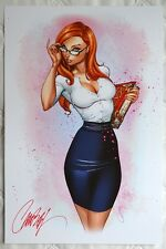 J SCOTT CAMPBELL signed CALL OF WONDERLAND 1 BLUERAINBOW EXCLUSIVE 100 ART PRINT