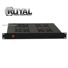 Royal Racks 1U w/ 4 Cooling Fans Rack Mountable AV Rack Mount Black Fan ROY1246