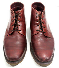 DR. MARTENS GILBERTO BOOTS MEN LEATHER ANKLE LACE UP BROWN Size 12