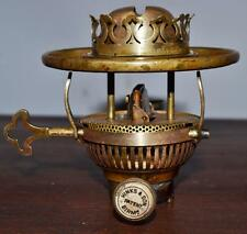 Antique Hinks's Patent Burner Brass Base Oil Lamp [PL2368]