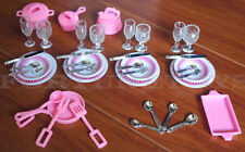 2 GLORIA DOLL HOUSE FURNITURE Utensil Accessories Plates & Bowls SETs (9502-3)