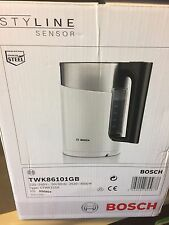 Bosch TWK86101GB Black 1.5L 3kW Rapid Boil Styline Collection Digital Jug Kettle