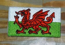 Wales - Embroidered Patch - Welsh Flag - Wales Flag - Patch - Iron On