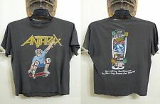 ANTHRAX Not Man Skate Shirt 1986? Vintage Small Spreading The Disease Scott Ian