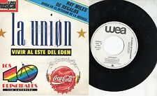 LA UNION disco 45 giri MADE in ITALY 1989 PROMO Vivir al este del Eden COCA COLA