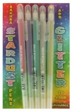 PACK 5 SAKURA STARDUST GLITTER GEL PENS ASSORTED COLOURS SHRINK ART SHRINKLES