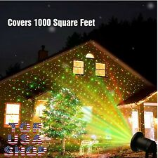 Christmas Lights Show Laser Projector House Decoration Outdoor Holiday Remote