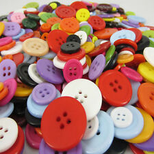 Mixed Different Size Colours Lot 100g Of Assorted Resin Buttons Fit Sewing
