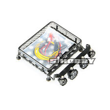 MHPC 1:10 Scale RC Crawler Accessory Metal Luggage Tray Roof Rack W/4LED FH31029