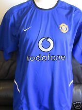 "Manchester United - Blue Away Shirt - 2002/03 - Size 45""-47"""