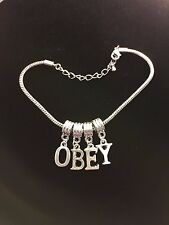 "Sexy ""OBEY"" Anklet Queen of Spades Hotwife Swinger Jewelry Fetish BBC Cuckold 70"