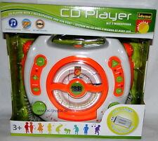 Idena Kinder CD Player SING-A-LONG mit 2 Mikrofonen USB Anschluss NEU