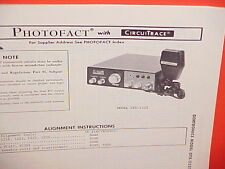 1976 GEMTRONICS CB RADIO SERVICE SHOP MANUAL MODEL GTX-2325