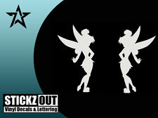 TINKERBELL Vinyl Decal Wall Sticker Auto Graphics DISNEY x2 Mirror Image