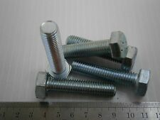 M12 50MM Hex cap steel zinc bolt machine screw Din933 lot of 15 #1298