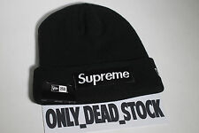 NEW ERA X SUPREME BOX LOGO BLACK BEANIE CAP HAT CAPS CASQUETTE CAMP BROWN PINK