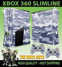 XBOX 360 SLIM URBAN CAMOUFLAGE CAMO ARMY STICKER SKIN & 2 PAD SKINS