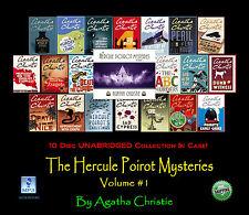 THE POIROT MYSTERIES Volume #1 - Agatha Christie - UNABRIDGED 10 Disc MP3 CD Set