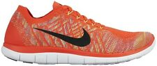 Mens Nike Free 4.0 Flyknit Running Trainers UK 7.5  - 717075 600 Crimson EUR 42