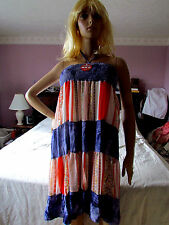 New With Tag  Womens Oodboo Beach Dress Size Small Sleeveless Multicolor