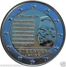 Pièce  2 euros commémorative LUXEMBOURG 2013  - Hymne National - UNC  -  Neuve