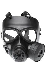 Black Paintball Airsoft Full Face Protection Gas Mask Cosplay A694