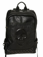 BANNED HALLE BACKPACK LADIES BLACK SKULL GOTHIC VEGAN BAG RUCKSACK PUNK STUDS