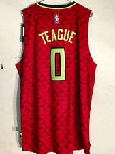 Adidas Swingman 2015-16 NBA Jersey Hawks Jeff Teague Red Alt sz 4X