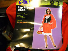 RED RIDING HOOD HALLOWEEN COSTUME WOMEN'S ONE SIZE FITS MOST SURPLUS TOTALLY GHO