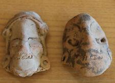 masque  poterie précolombiennes en terre cuite terracota potery fouille