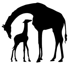 GIRAFFE WITH BABY Vinyl Decal Sticker Car Window Wall Bumper Animal Cute Love