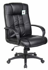Black High Back Swivel Executive PU Leather Computer Office Chair