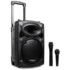 "500 W PORTABLE BLUETOOTH SPEAKER ACTIVE 10"" PA USB SD MP3 SYSTEM + MICROPHONES"