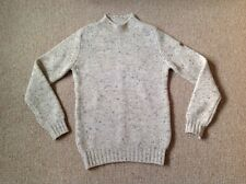 Hawick Knitwear Men's Grown-on-Neck Cashmere Sweater size M