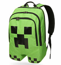 Waterproof Minecraft Backpack School bag Boys Green Creeper Rucksack Sports Bag