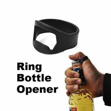 New Stainless Steel Finger Ring Bottle Opener Beer Bar Tool Black Metal Tools
