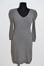 WOMENS MONSOON LOVELY JUMPER KNIT DRESS TUNIC SOFT WARM GREY S SMALL VGC
