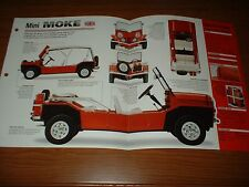 ★★1965 MINI MOKE SPEC SHEET BROCHURE POSTER PRINT PHOTO INFO 64 65 66 67 68 BMC★
