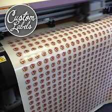 Custom Sticker Printing Vinyl Cut Any Shape Stickers Decals Labels Transparent