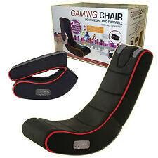 PLAYSTATION XBOX CYBER ROCKING GAMING CHAIR ADULTS KIDS SOUND PLAY MUSIC IPHONE