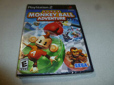 BRAND NEW SEALED PLAYSTATION 2 VIDEO GAME SUPER MONKEY BALL ADVENTURE PS2 NFS