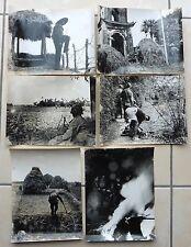 6 PHOTO GUERRE TONKIN armée française EVACUATION DES CATHOLIQUES PATROUILLE GUET