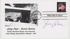 SIGNED SECRET SERVICE JERRY PARR FDC AUTOGRAPHED FIRST DAY COVER RONALD REAGAN