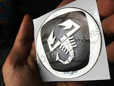 STICKER ADESIVO 3D RESINATO LOGO ABARTH CROMATO 75mm AD-201