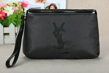 YSL Black Makeup Cosmetics Bag with handle, Brand NEW!
