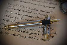 """Steampunk fountain pen """" Torpedo """", steel, brass, copper."""