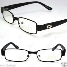 DG Clear Lens Frames Glasses Rectangular Fashion Nerdy Mens Womens Eyewear Black