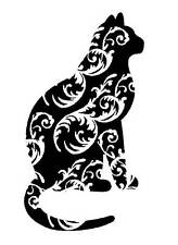 Unmounted Rubber Stamp - Swirly Kitty Cat - 7051