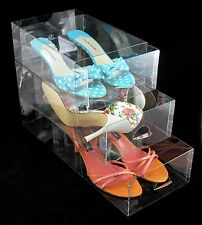 Clear Shoe Box by Shoebby (Pack of 12 Boxes)